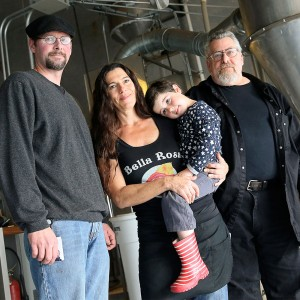 Jon Bixler, Cynthia Buck, GIacomo Bixler and David Greenfield of Bella Rosa coffee company (Christopher Chung/PD)