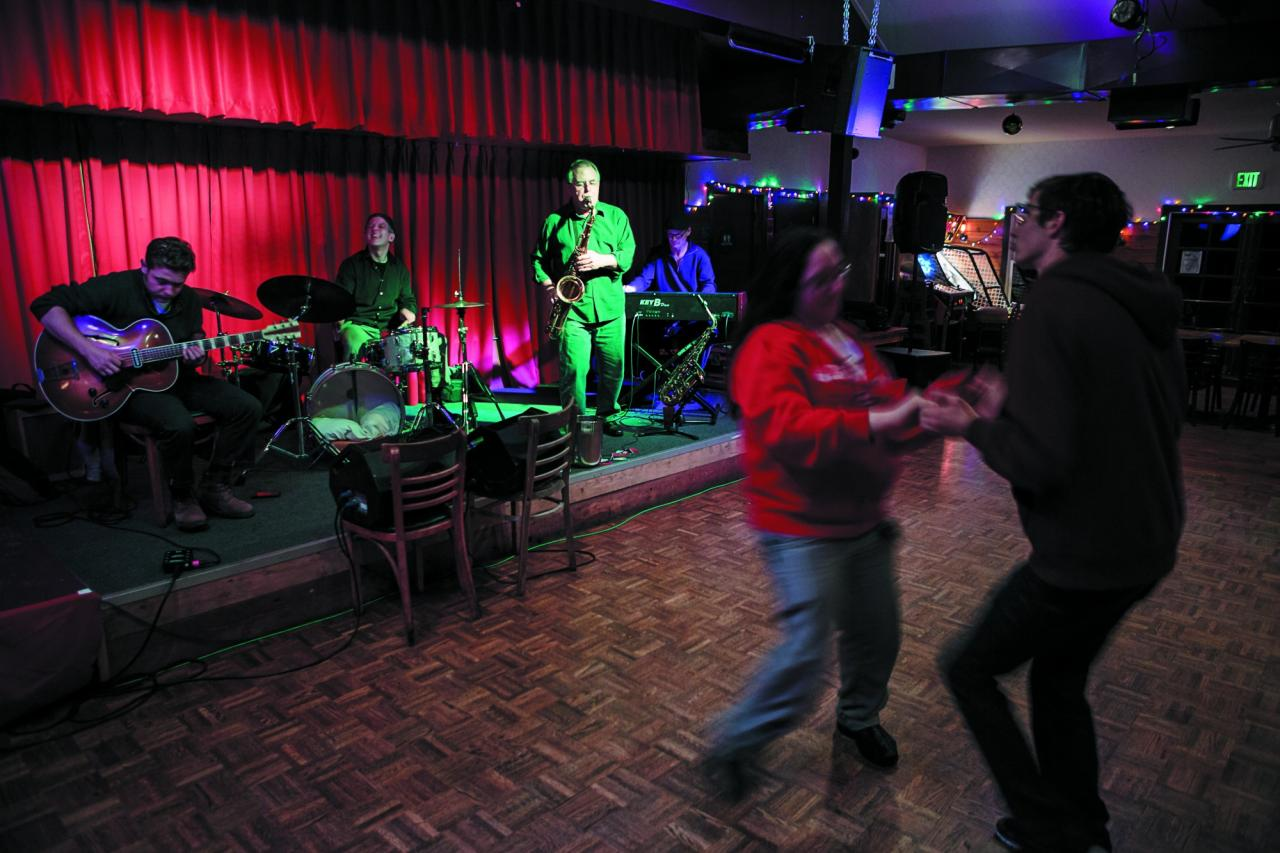 Live music and the dance floor draw a diverse crowd. (Photo / Chris Hardy)