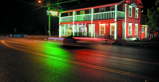 The Washoe's new owner gave the landmark a fresh coat of red paint. (Photo / Chris Hardy)