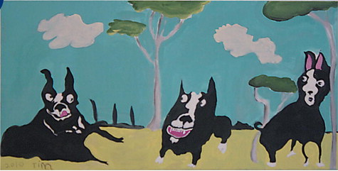Boston Terriers by Tim Shorten.  (Courtesy of The Alchemia Gallery)
