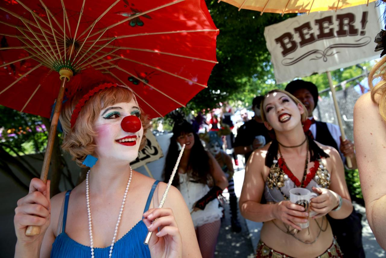 The Lagunitas Beer Circus: It might take an hour to get in, even with a ticket, but once you're inside the gates, a brew-filled party ensues. The Beer Circus is held mid-August at the Petaluma Fairgrounds. (BETH SCHLANKER/ The Press Democrat)