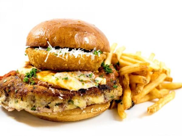 The mega parmesan burger at Bibi's Burger Bar in Santa Rosa (courtesy photo)