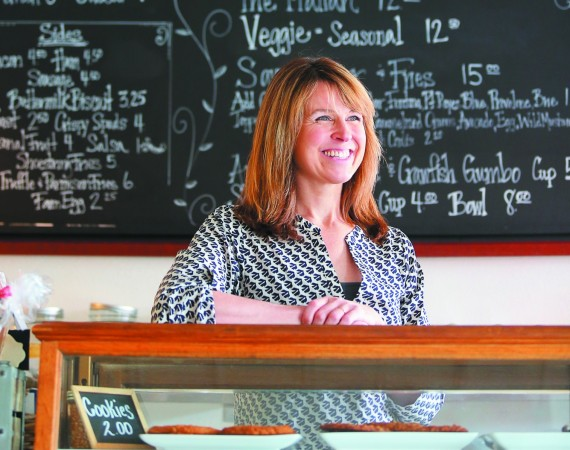Kristine Bodily-Gallagher, chef and owner of Savvy on First, has brightened Cloverdale's culinary scene with her farm-fresh dishes served in a casual, welcoming atmosphere. (Photo / Christopher Chung)