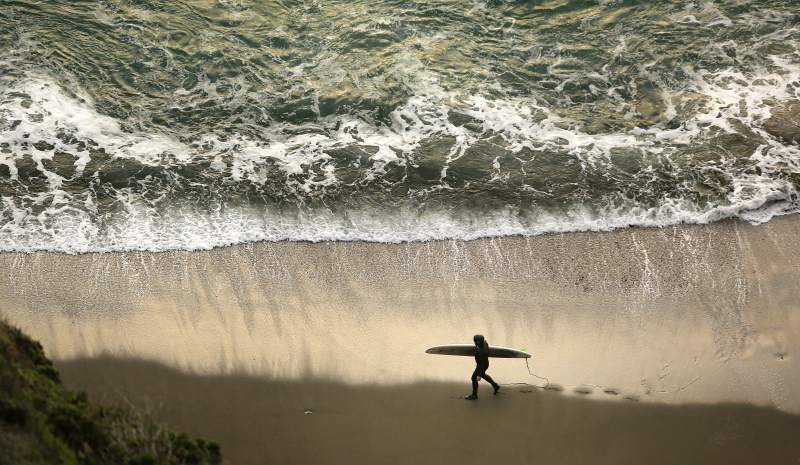 Catch some waves at one of Sonoma County's many beaches, most popular is Salmon Creek . (Conner Jay/The Press Democrat)