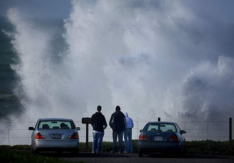 Duncan's Landing: Head north to Duncan's Landing, where big waves crash ashore, creating a weather spectacle for visitors to the Sonoma Coast. (Kent Porter / Press Democrat)