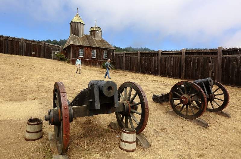 Fort Ross State Historic Park: Venture farther north and you'll find Fort Ross, which was built by the Russians in 1812 and occupied until 1842. This is a great spot for California history buffs. (Staff photographer / The Press Democrat)