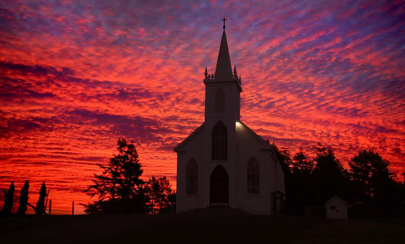 "Just off Highway 1, head over to Saint Teresa of Avila Church in Bodega. This church, originally built in 1859, was made famous in Alfred Hitchcock's 1963 classic horror film, ""The Birds."" (Kent Porter / Press Democrat)"