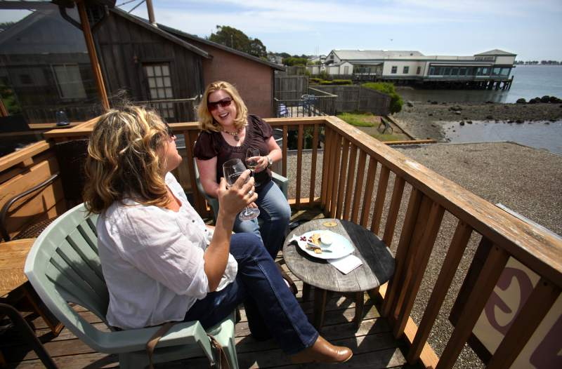 Gourmet Au Bay: If you prefer a liquid lunch, check out Gourmet Au Bay in Bodega Bay. This cozy spot is the Sonoma Coast's only waterside wine bar. (John Burgess / The Press Democrat)