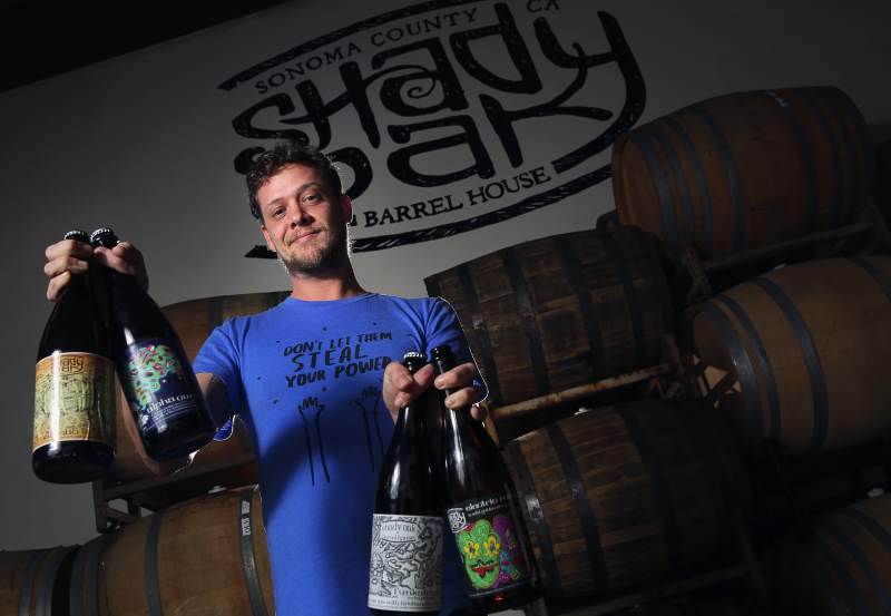 Steve Doty is the one-man show producing beer for his Shady Oak Barrel House in Santa Rosa. (Christopher Chung/ The Press Democrat)
