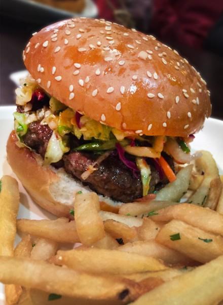 Thai Burger at Bibi's Burger Bar in Santa Rosa (Heather Irwin)