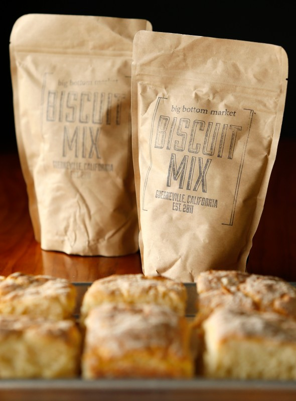 Luedtke's signature Big Bottom Biscuits served at her market cafe are also available as a mix to make and bake at home.