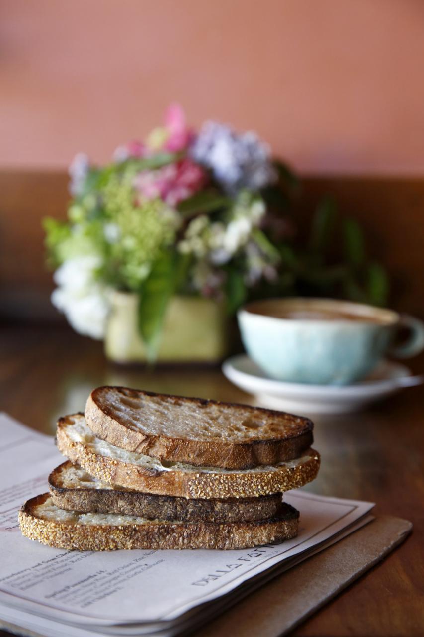 Slices of toast at Della Fattoria in Petaluma. (BETH SCHLANKER/ The Press Democrat)