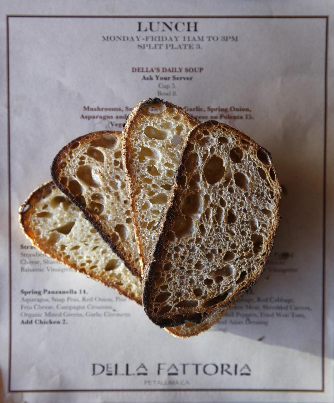 Toast at Della Fattoria in Petaluma. (Phot