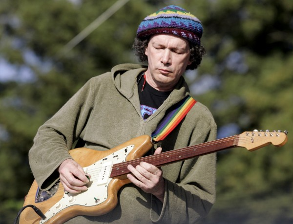6/13/2009:B1: Eyes closed, Steve Kimock performs Friday. PC:  Steve Kimock performs during the 31st Annual Harmony Festival held at the Sonoma County Fairgrounds in Santa Rosa, Friday June 12, 2009.