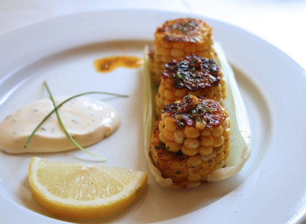 Elote at Guiso Latin Fusion Kitchen in Healdsburg (Heather Irwin, PD)
