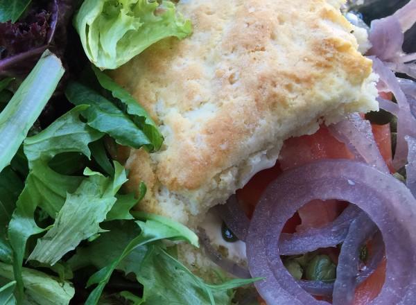 Lox biscuit at Big Bottom Market's Biscuit Bar (Heather Irwin)