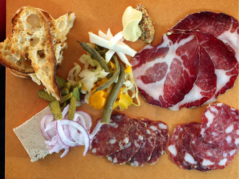 The Butcher's Board served at Central Market in Petaluma. (Crista Jeremiason / The Press Democrat)