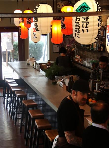 The interior bar at Ramen Gaijin in Sebastopol on 3/16. (heather irwin, press democrat)