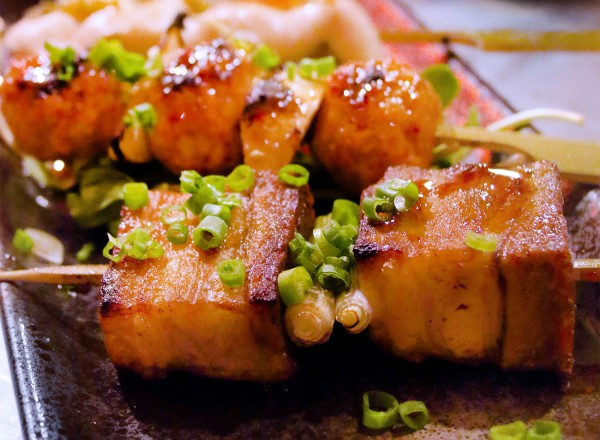 Pork Belly skewers at Ramen Gaijin (Heather Irwin)