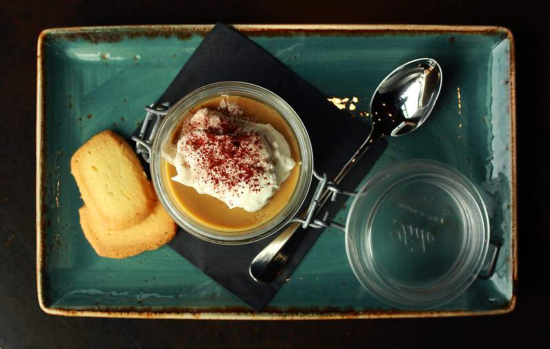 Butterscotch Pot de Creme from Oso Sonoma on the square. (John Burgess / The Press Democrat)
