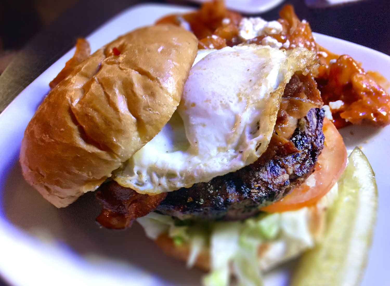 The Pork Belly Burger: Hey Misstir Bar & Grill, Santa Rosa