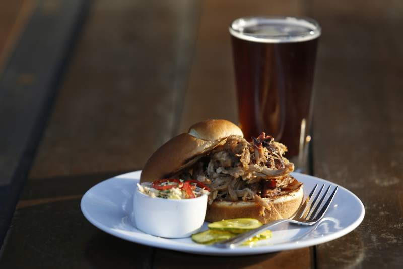 The pulled pork sandwich at Rossi's in Sonoma. (Beth Schlanker / The Press Democrat)