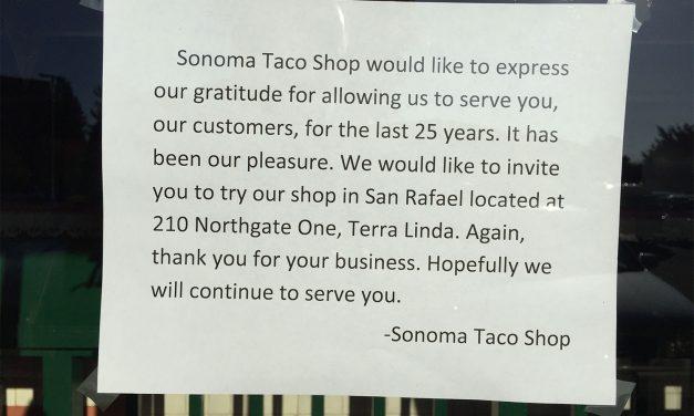 RIP Santa Rosa's Sonoma Taco Shop