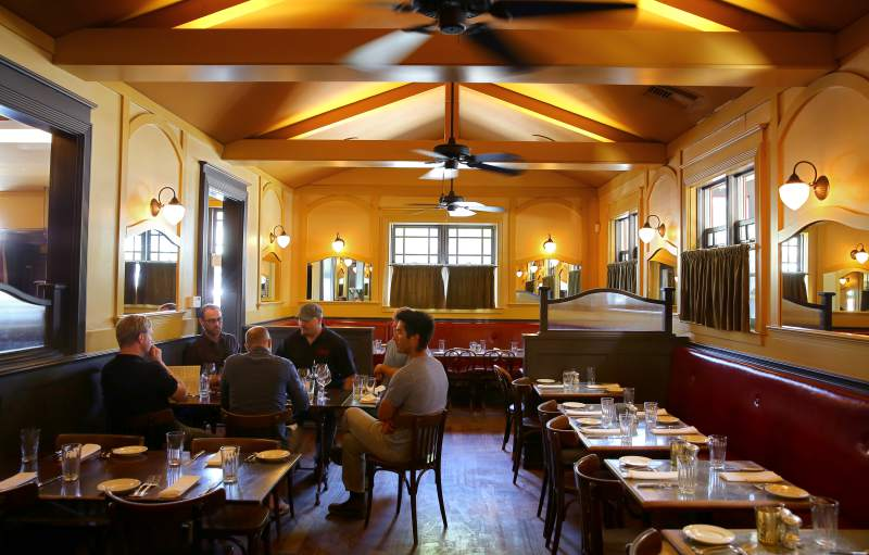 The main dining room at Underwood Bar and Bistro in Graton. (Christopher Chung / The Press Democrat)