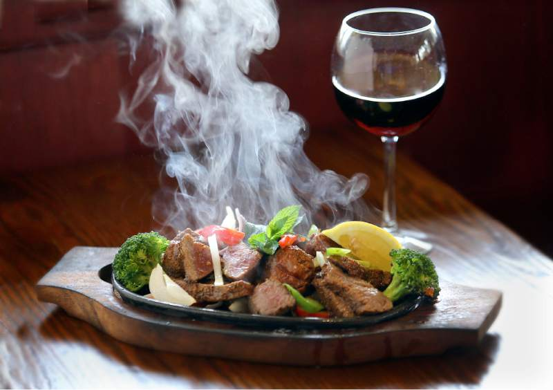 Lamb Kebab from Yeti Restaurant in Santa Rosa. (John Burgess / The Press Democrat)
