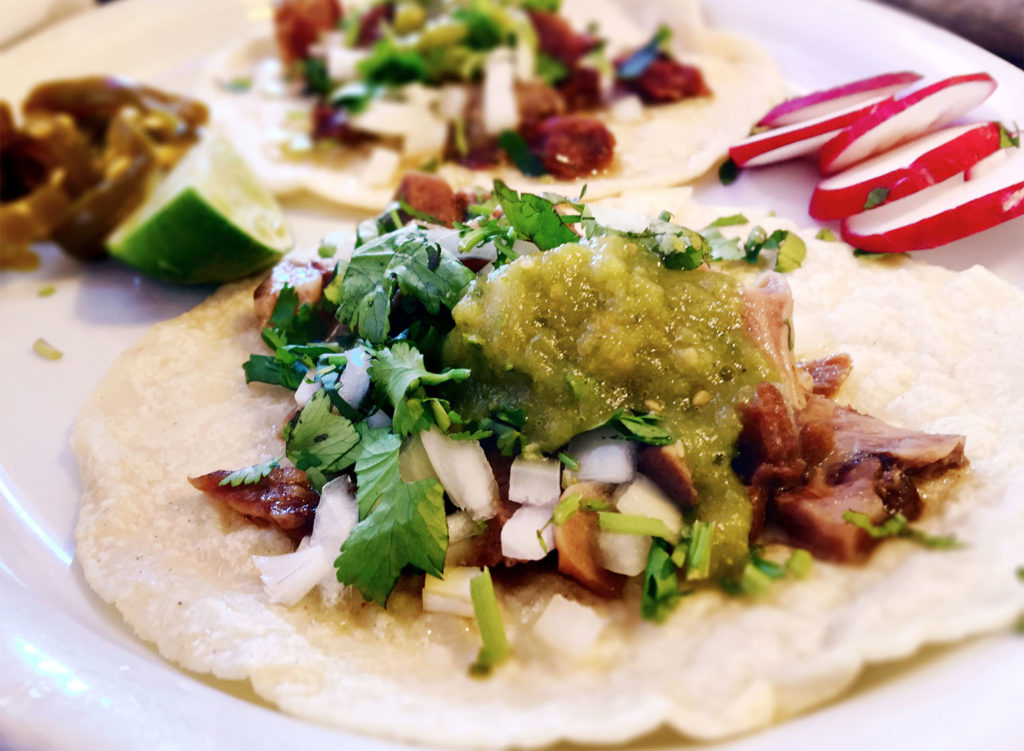 Lengua tacos at La Texanita in roseland, California. (Heather Irwin, PD)
