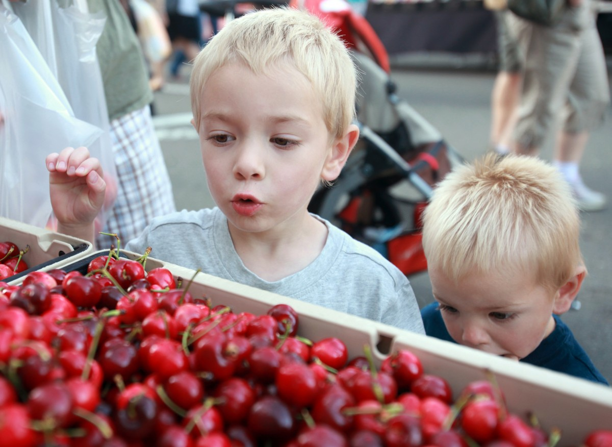 Wednesday Night Market in Santa Rosa. (Crista Jeremiason / The Press Democrat)
