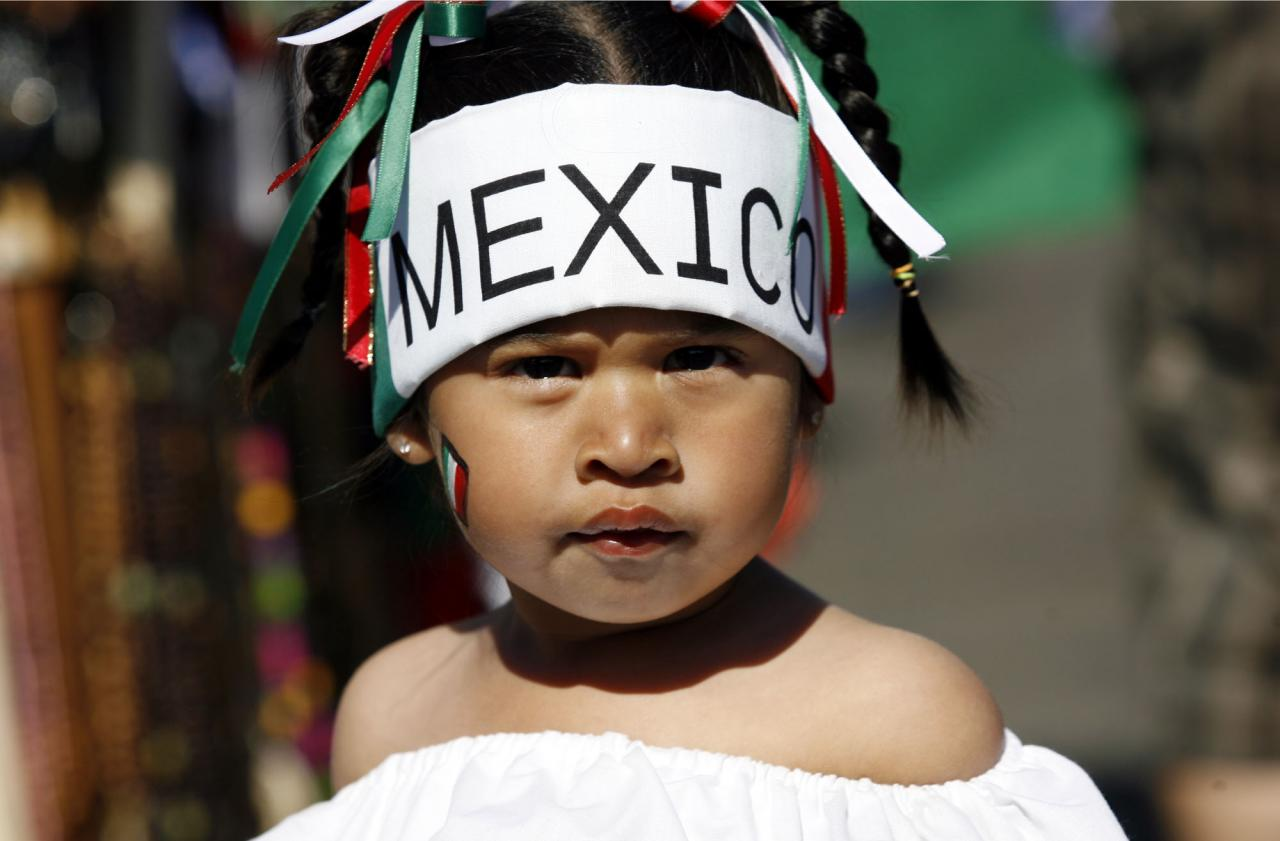 Victoria Analy, 2, of Santa Rosa, dressed up for the Cinco de Mayo celebration in Santa Rosa, May 5, 2010.