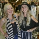 Cristina Wilson Hudin, left, and Michelle Wilson Bien twin sisters and native Petalumans founded Ooh La Loft, a Petaluma-based clothing store (Scott Mancheters / Argus-Courier Staff)