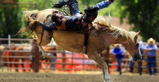 Blow off some steam by watching the Russian River Rodeo in the historic hamlet of Duncans Mills. (John Burgess / The Press Democrat)