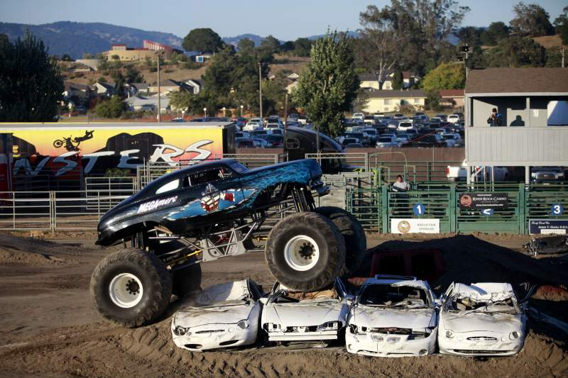 The WGAS Monster Truck Spring Nationals is on Friday, May 6 at the Sonoma County Fairgrounds in Santa Rosa. (Beth Schlanker / The Press Democrat)