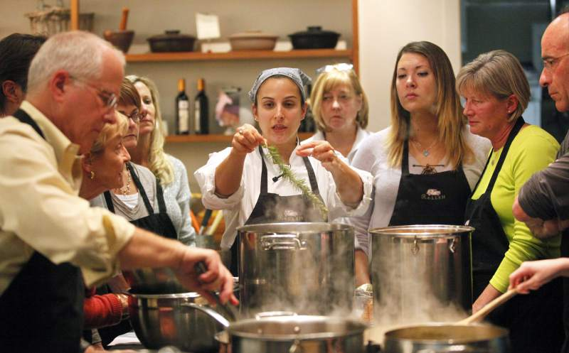 "14. Take a cooking class with her. Relish Culinary Adventures in Healdsburg is holding the event, ""Mother's Day Brunch,"" where you and mom can learn to make a five-course brunch together while sipping mimosas. $108 per person, May 8, 11 a.m. for more details, see www.relishculinary.com. (Crista Jeremiason / The Press Democrat)"