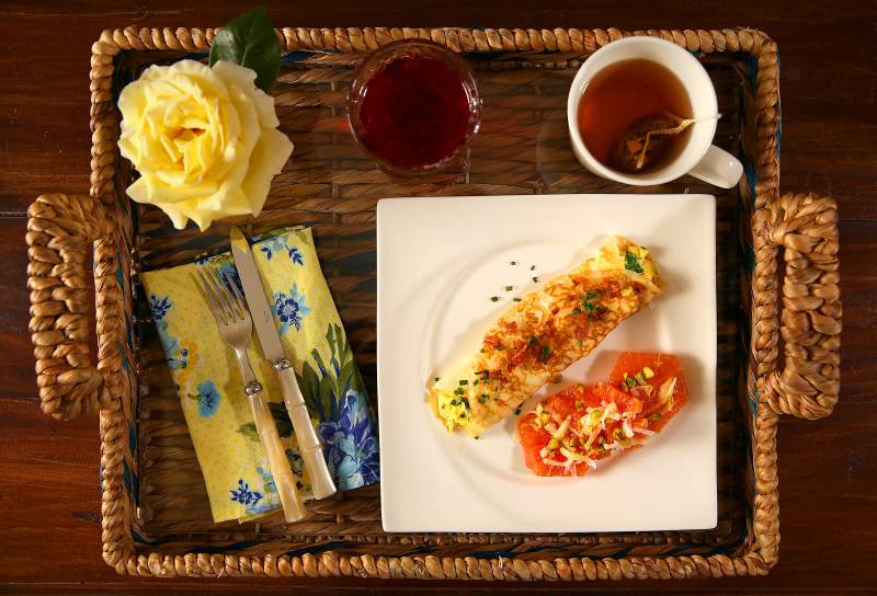 7. Make Mom breakfast in bed. Here's a way to sneak in brunch without waiting an hour for eggs. See some of our favorite recipes at pantry.blogs.pressdemocrat.com. (Christopher Chung/ The Press Democrat)