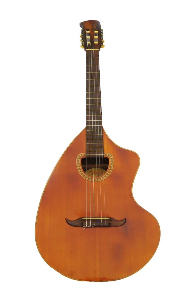 The Craviola Giannini, created by Tranquillo Giannini with Brazilian musician Paulinho Nogueira is one of the most notable guitars made by Giannini due to its unique shape and sound identity. It gained widespread visibility after it was used by Led Zeppelin's guitarist Jimmy Page.