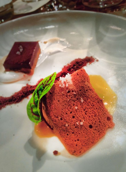 Dark chocolate dessert at a winemaker dinner at Valette restaurant in Healdsburg on 5/6/16. Heather Irwin, Press Democrat