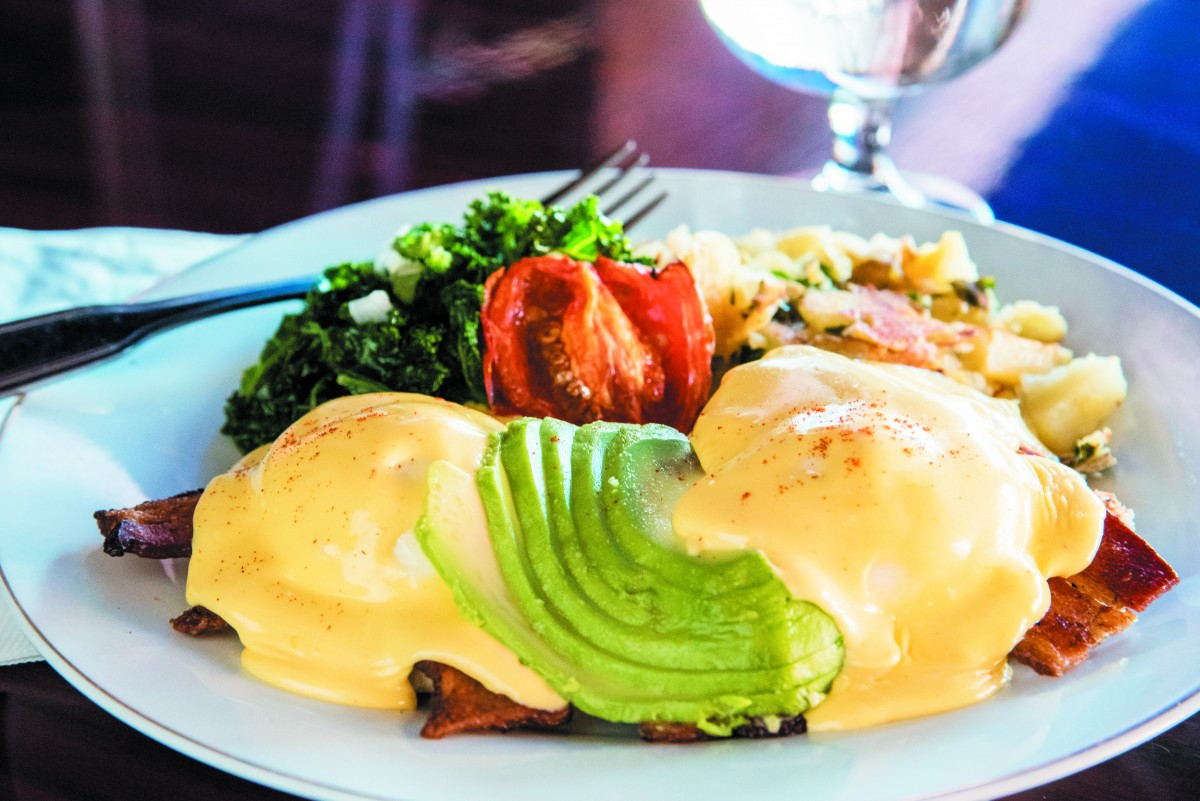 Eggs Benedict is among the treats at Sprenger's Tap Room (photo by RohndaSue Photography)