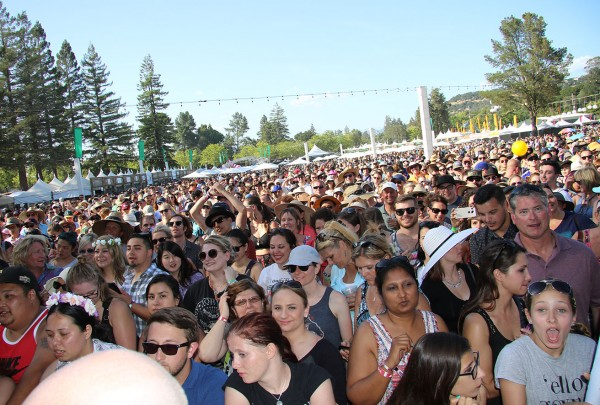Fans wait for Chef Gordon Ramsay at BottleRock 2016. heather Irwin
