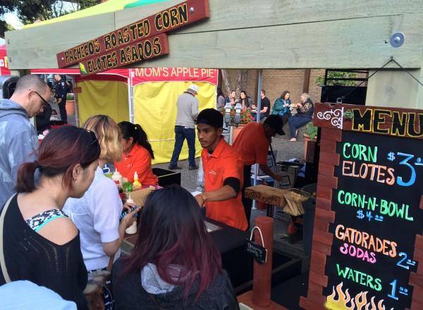 Pacheco's Roasted Corn at Santa Rosa's Wednesday Night Market (heather irwin)