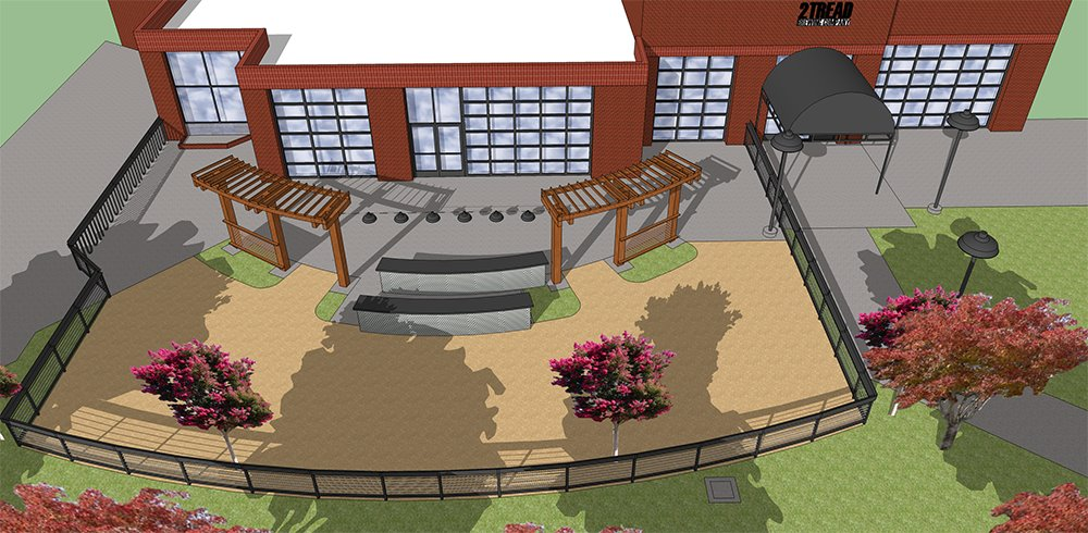 Two Tread Brewing architectural plans for a brewery and pub in downtown Santa Rosa