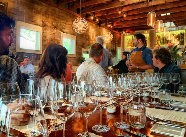 A winemaker dinner at Valette restaurant in Healdsburg on 5/6/16. Heather Irwin, Press Democrat