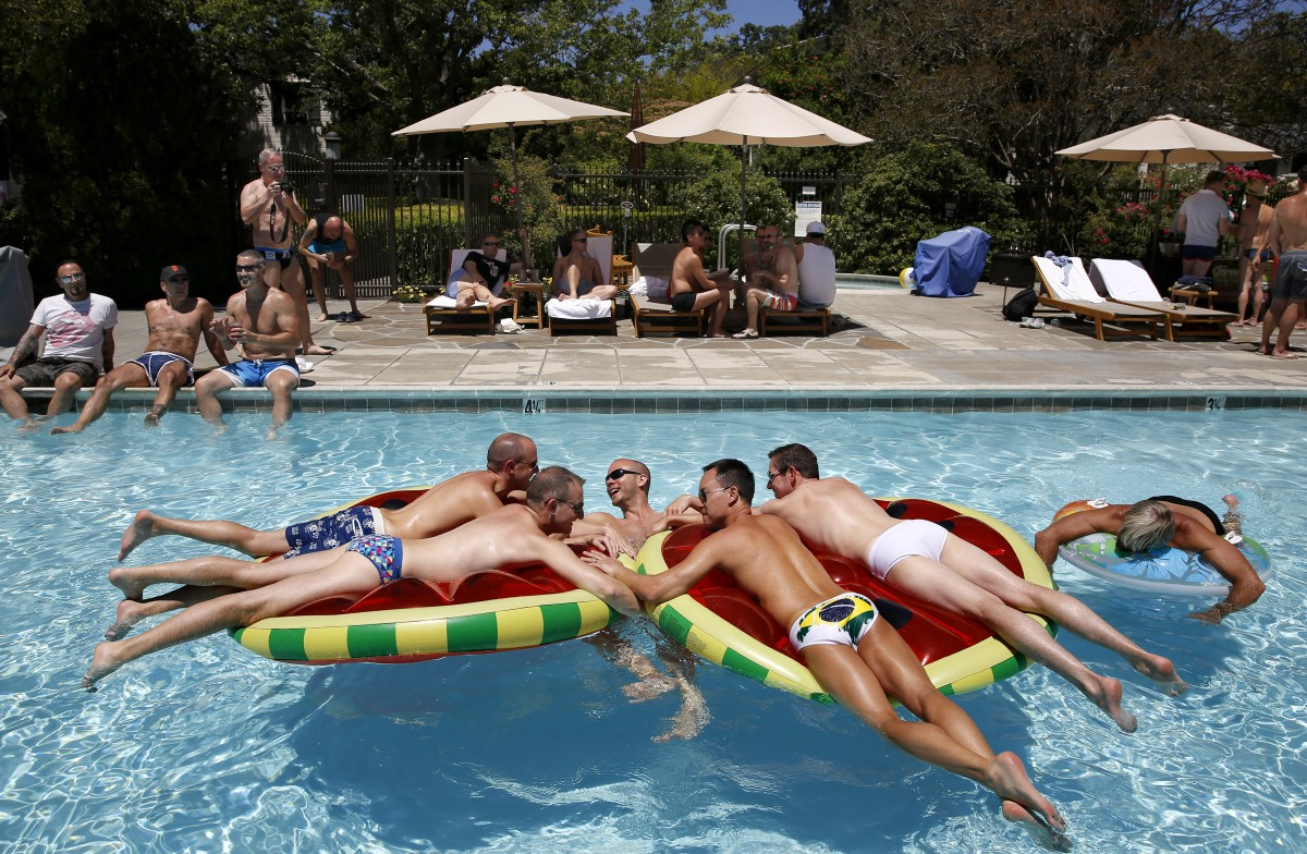 Gay Wine Weekend Pool Party, Sonoma. (Beth Schlanker / The Press Democrat)