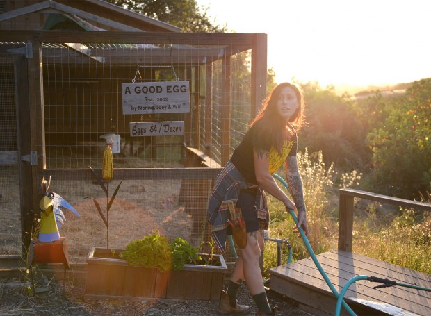 Katina Connaughton at Single Threads Farm in Healdsburg. (Sally Egan)
