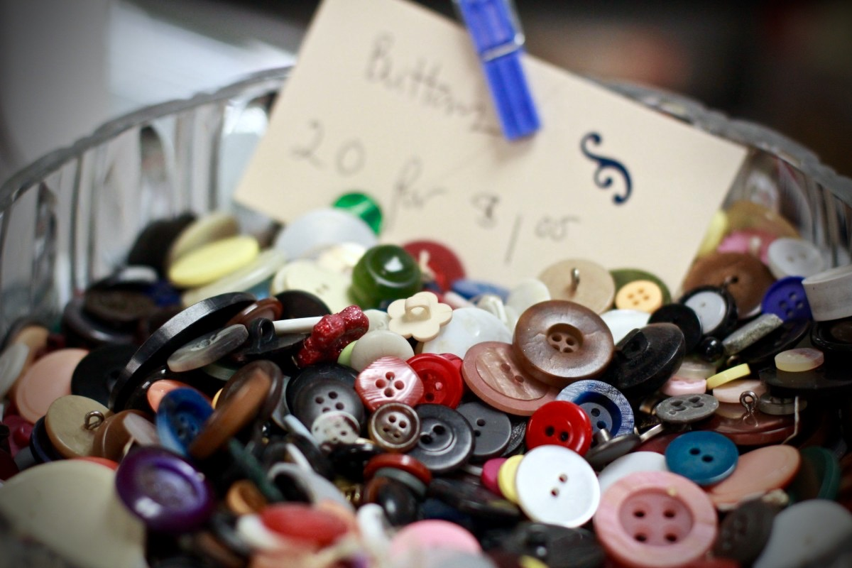 Buttons for assemblage craftor sewing project, Pick of the Litter.