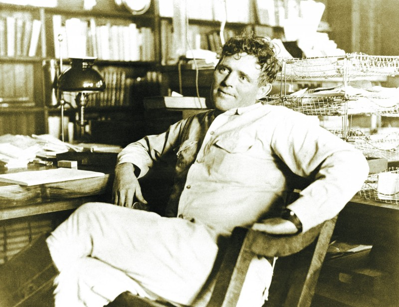 Jack London photographed in 1916, shortly before his death. (California State Parks, 2016)