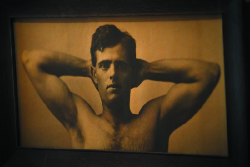 A photo portrait of a young Jack London hangs in a small room on the second floor of the House of Happy Walls museum at Jack London State Historic Park.