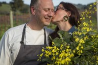 Kyle and Katina Connaughton of Single Thread Farms Restaurant in Healdsburg at their farm. Photo: Jason Jaacks